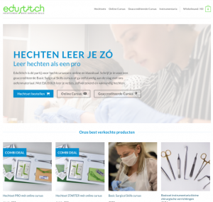 nieuwe website edustitch hechtset hechten basic surgical skills medical